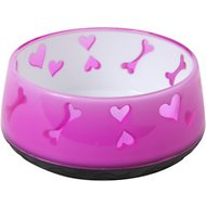 Dogit Bone Pattern Dog Bowl, Small Pink