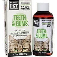 Tomlyn Natural Pet Pharmaceuticals Teeth & Gums Homeopathic Water Additive for Cats, 4-oz bottle