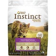 Nature's Variety Instinct Grain-Free Rabbit Meal Formula Dry Cat Food, 12.1-lb bag