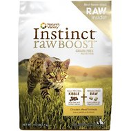 Nature's Variety Instinct Raw Boost Grain-Free Chicken Meal Formula Dry Cat Food, 11.3-lb bag