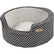 K&H Pet Products Round Comfy Sleeper Pet Bed, Gray/Black, Small
