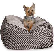 K&H Pet Products Deluxe Cuddle Cube Pet Bed, Black, Small