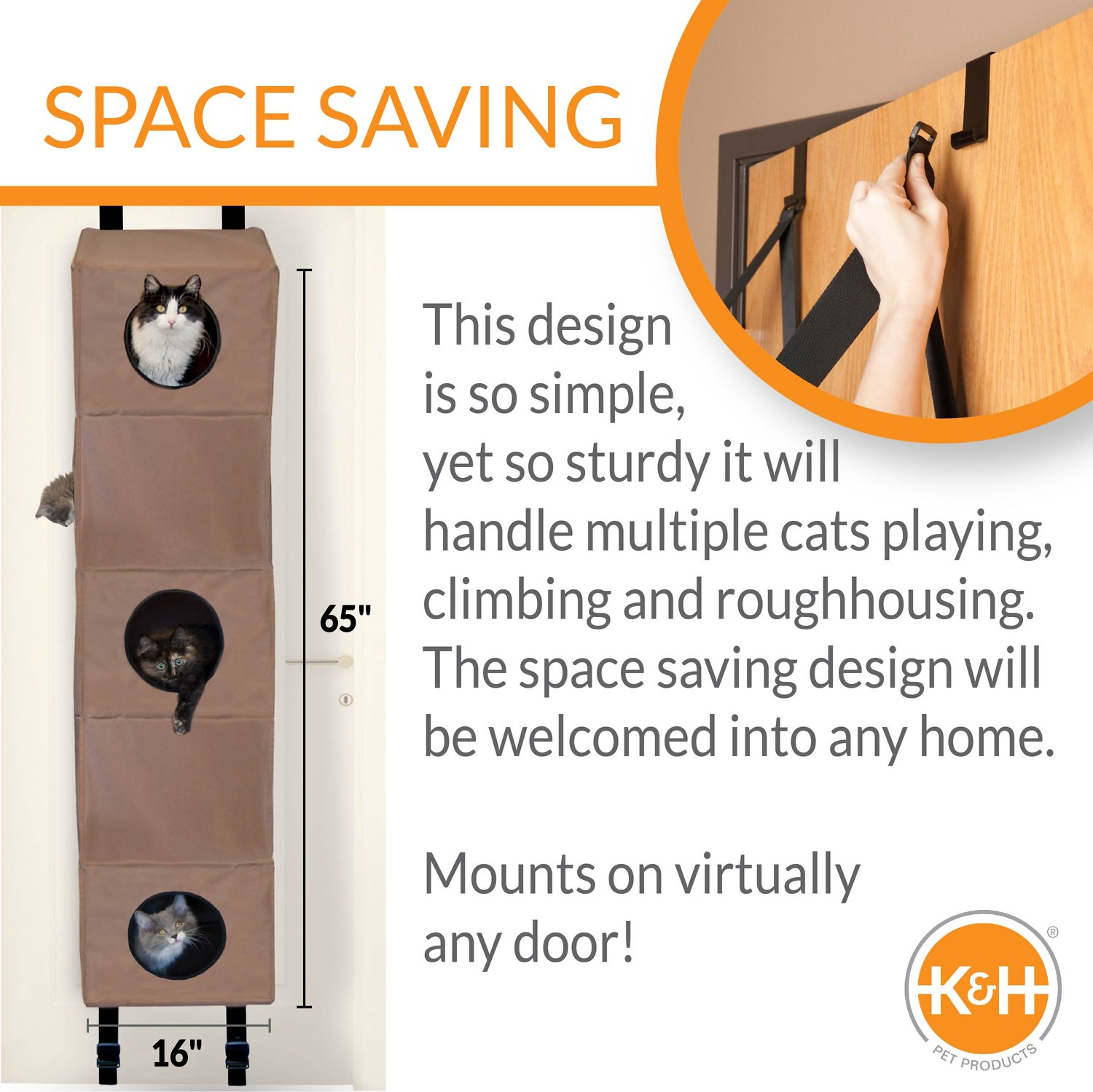 K Amp H Pet Products Hangin Cat Condo Small Chewy Com