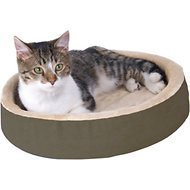 K&H Pet Products Thermo-Kitty Cuddle Up, Mocha