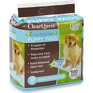 ClearQuest Blooming Fresh Scented Puppy Pads, 100 count