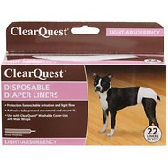 ClearQuest Disposable Diaper Liners, Light, 22 count