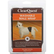 ClearQuest Washable Male Dog Wrap, Medium