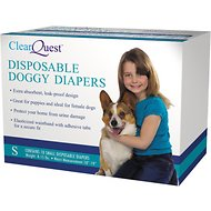 ClearQuest Disposable Doggy Diapers, Small