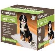 ClearQuest Maximum Absorbency Puppy Pads, 100 count