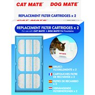 Cat Mate Replacement Filter Cartridges for Cat Mate and Dog Mate Fountains, 2-count