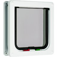 Cat Mate 4-Way Locking Cat Flap with Door Liner, White