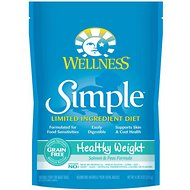 Wellness Simple Limited Ingredient Diet Grain-Free Healthy Weight Salmon & Peas Formula Dry Dog Food, 24-lb bag