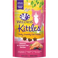 Wellness Kittles Grain-Free Salmon & Cranberries Recipe Crunchy Cat Treats, 2-oz bag