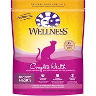 Wellness Complete Health Indoor Health Salmon & Whitefish Meal Recipe Dry Cat Food, 5-lb bag