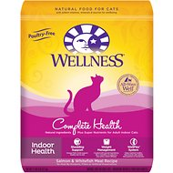 Wellness Complete Health Indoor Health Salmon & Whitefish Meal Recipe Dry Cat Food, 11.5-lb bag