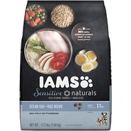 Iams Sensitive Naturals Ocean Fish & Rice Recipe Adult Dry Dog Food, 17.2-lb bag