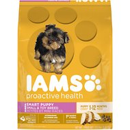 Iams ProActive Health Smart Puppy Small & Toy Breed Dry Dog Food, 12.5-lb bag