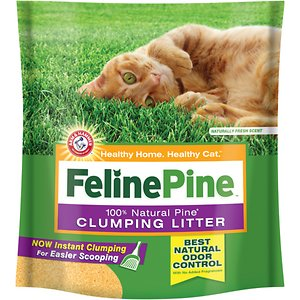 Feline Pine Scoop Unscented Clumping Wood Cat Litter