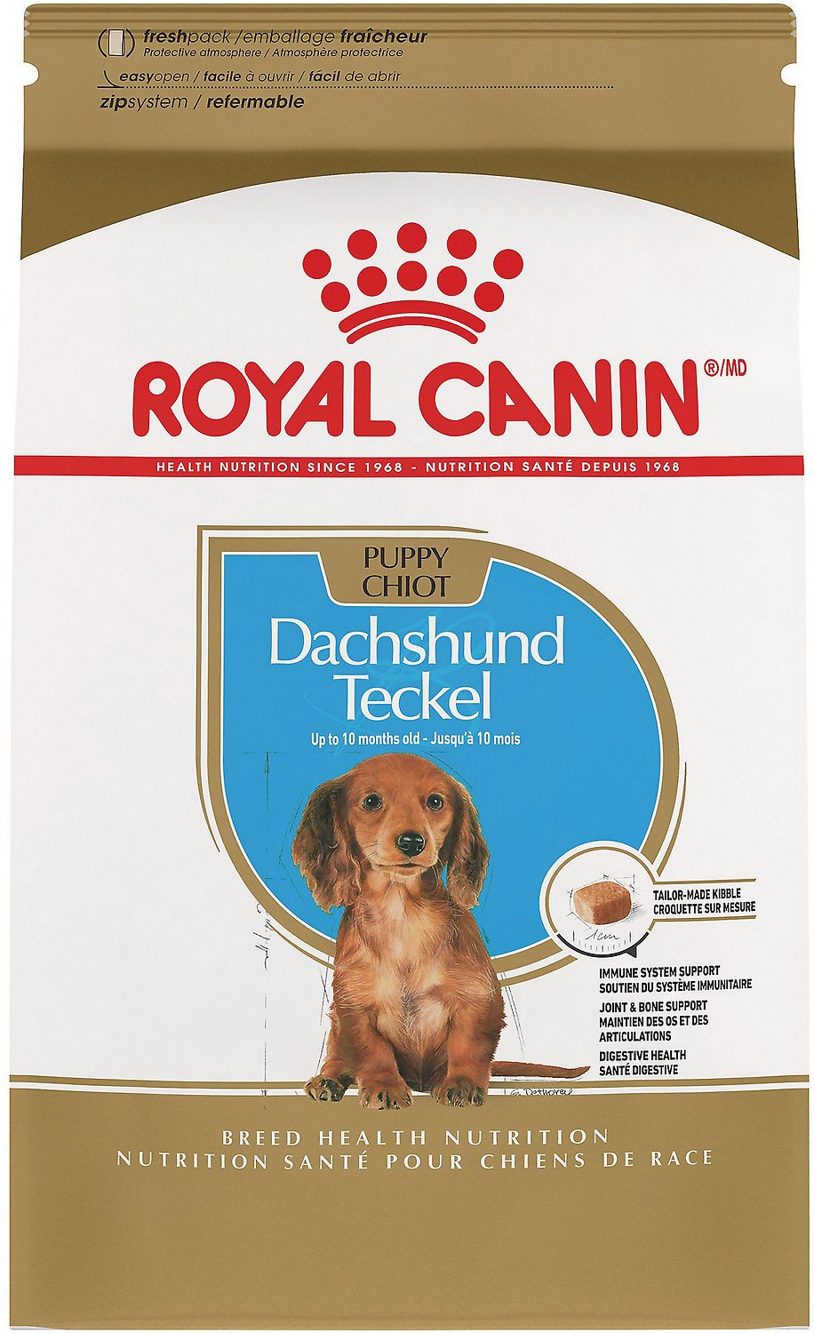 royal canin dachshund puppy dry dog food 2 5 lb bag. Black Bedroom Furniture Sets. Home Design Ideas