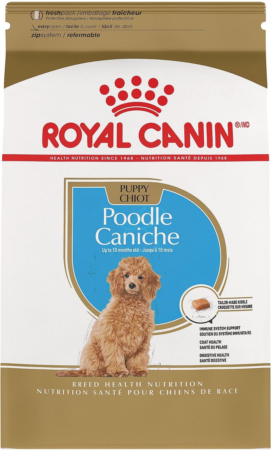 royal canin poodle puppy dry dog food 2 5 lb bag. Black Bedroom Furniture Sets. Home Design Ideas