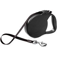 Flexi Explore Retractable Cord & Tape Dog Leash, Black, Large