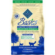 Blue Buffalo Basics Limited Ingredient Grain-Free Formula Duck & Potato Indoor Adult Dry Cat Food, 5-lb bag
