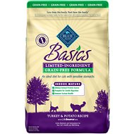 Blue Buffalo Basics Limited Ingredient Grain-Free Formula Turkey & Potato Indoor Mature Dry Cat Food, 11-lb bag