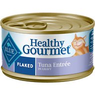 Blue Buffalo Healthy Gourmet Flaked Tuna Entree in Gravy Canned Cat Food, 3-oz, case of 24