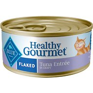 Blue Buffalo Healthy Gourmet Flaked Tuna Entree in Gravy Canned Cat Food, 5.5-oz, case of 24
