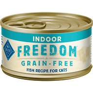 Blue Buffalo Freedom Indoor Adult Fish Recipe Grain-Free Canned Cat Food, 5.5-oz, case of 24