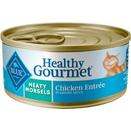 Blue Buffalo Healthy Gourmet Meaty Morsels Chicken Entree Canned Cat Food, 5.5-oz, case of 24