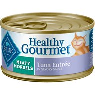 Blue Buffalo Healthy Gourmet Meaty Morsels Tuna Entree Canned Cat Food, 3-oz, case of 24