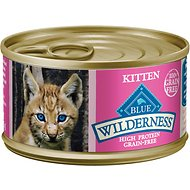 Blue Buffalo Wilderness Kitten Salmon Grain-Free Canned Cat Food, 3-oz, case of 24