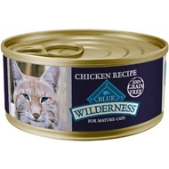 Blue Buffalo Wilderness Mature Chicken Recipe Grain-Free Canned Cat Food, 5.5-oz, case of 24