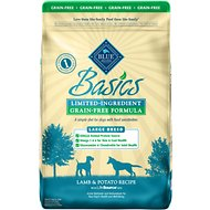 Blue Buffalo Basics Limited Ingredient Grain-Free Formula Lamb & Potato Recipe Large Breed Adult Dry Dog Food, 22-lb bag