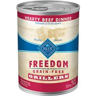 Blue Buffalo Freedom Grillers Hearty Beef Dinner Grain-Free Canned Dog Food, 12.5-oz, case of 12