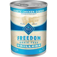 Blue Buffalo Freedom Grillers Hearty Chicken Dinner Grain-Free Canned Dog Food, 12.5-oz, case of 12