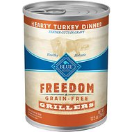 Blue Buffalo Freedom Grillers Hearty Turkey Dinner Grain-Free Canned Dog Food, 12.5-oz, case of 12