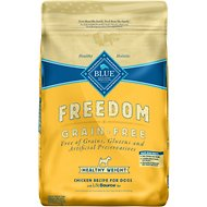 Blue Buffalo Freedom Adult Healthy Weight Chicken Recipe Grain-Free Dry Dog Food, 24-lb bag