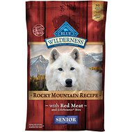 Blue Buffalo Wilderness Rocky Mountain Recipe with Red Meat Senior Grain-Free Dry Dog Food, 22-lb bag