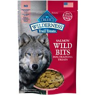 Blue Buffalo Wilderness Trail Treats Salmon Wild Bits Grain-Free Training Dog Treats, 4-oz bag