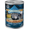 Blue Buffalo Wilderness Wolf Creek Stew Chunky Chicken Stew Grain-Free Adult Canned Dog Food