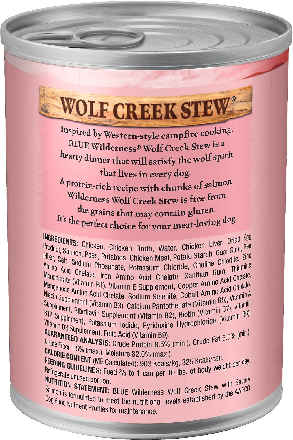 Blue Buffalo Wilderness Wolf Creek Stew Savory Salmon Stew Grainfree Adult  Canned Dog Food