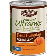 Castor & Pollux Natural Ultramix Real Pumpkin Ultrablend Supplement Canned Dog & Cat Food, 12.7-oz, case of 12