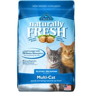 Blue Buffalo Naturally Fresh Walnut-Based Alpine Meadow Scent Multi-Cat Quick-Clumping Cat Litter, 14-lb bag