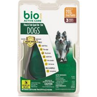 Bio Spot Active Care Flea & Tick Spot On for Dogs, 15-30 lbs, 3 treatments