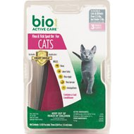 Bio Spot Active Care Flea & Tick Spot On for Cats (Under 5 Pounds), 3 month supply