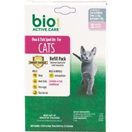 Bio Spot Active Care Flea & Tick Spot On Refill for Cats (3-Month Supply), Under 5-lbs