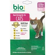 Bio Spot Active Care Flea & Tick Spot On Refill for Cats (3-Month Supply), 5-lbs & over