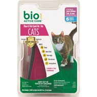 Bio Spot Active Care Flea & Tick Spot On for Cats (5 Pounds and Over), 6 month supply